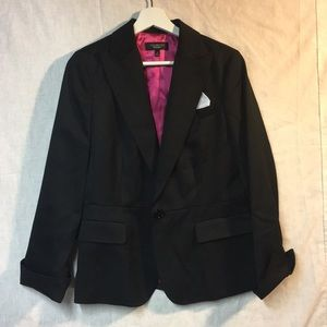Black blazer with pink lining